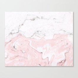 Blend of White Pink Marble Canvas Print