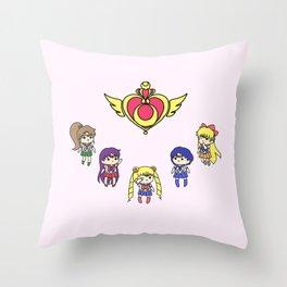 Inner Senshi Chibi 2 Throw Pillow