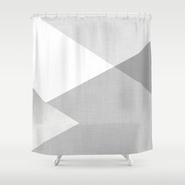 Geometrics - texture grey silver Shower Curtain