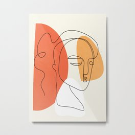 Abstract Face 24 Metal Print