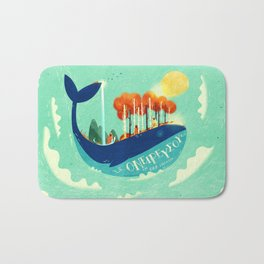 :::Tall Tree Whale::: Bath Mat