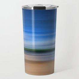 Beach Blur Painted Effect Travel Mug