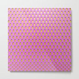 Elongated Holes3 Spanked Pink Metal Print