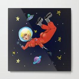 Space Babe Metal Print