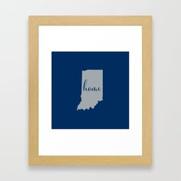 Indiana is Home - Go Colts Framed Art Print