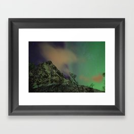 Norway lights 2 Framed Art Print