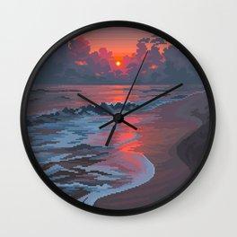Summer's Passing Wall Clock