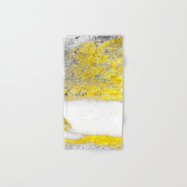 Silver and Gold Marble Design Hand & Bath Towel