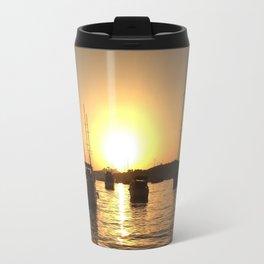 lovely sunset in bodrum Travel Mug