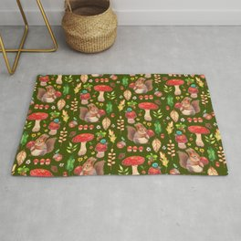 Red mushrooms and friends - GBG Rug