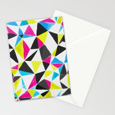 watercolor geometry CMYK Stationery Cards