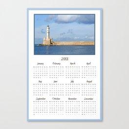 Lighthouse 2013 Calendar Canvas Print