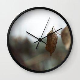 Leaves III Wall Clock