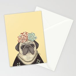 Frida Pug Kahlo Stationery Cards