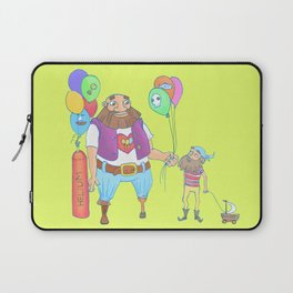 Kid pirate and huge pirate! Laptop Sleeve