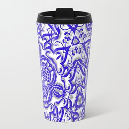 Blue antik lace Travel Mug