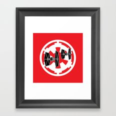 Star Wars Tie Fighters and Imperial Cog Framed Art Print