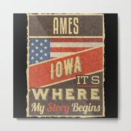 Ames Iowa Metal Print