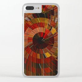 Royal Fireworks Clear iPhone Case