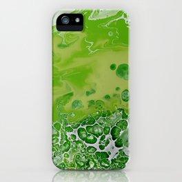 Caribbean Green - Lime Green Bright Fluid Art iPhone Case