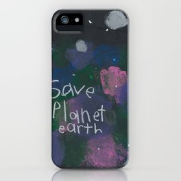 Save Planet Earth iPhone Case