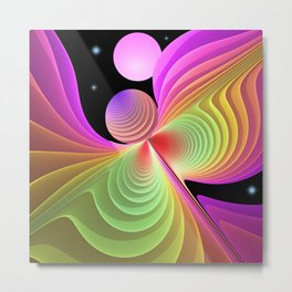 Free like a bird, fractal abstract symbolic art Metal Print