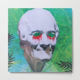 I open my eyes and all I see is darkness / VAPORWAVE Metal Print