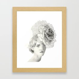 Emma in Bloom Framed Art Print
