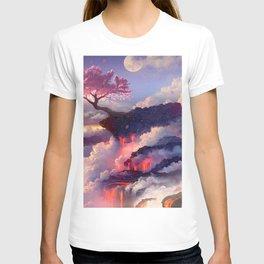 Sakura tree in clouds T-shirt