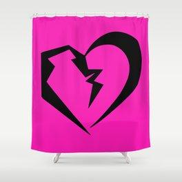 Hot Pink Heartbreak Shower Curtain