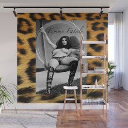 Vintage Pin Up - Stone Hard Femme Leopard Wall Mural