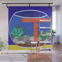T is for Terrarium  Wall Mural