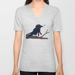 Annoyed IL Birds: The Crow Unisex V-Neck