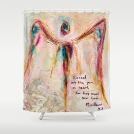 With Honesty Shower Curtain
