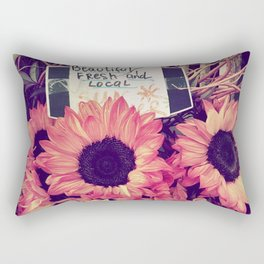 pink sunflowers Rectangular Pillow