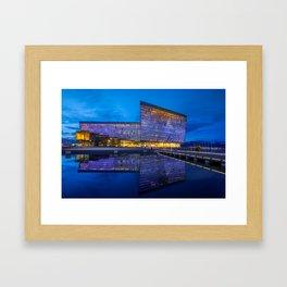 Harpa Reykjavik by night Framed Art Print