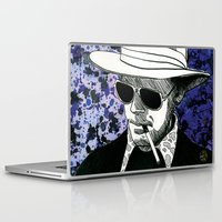 hunter s thompson Laptop & iPad Skins featuring Hunter S. Thompson, Bat Country by Abominable Ink by Fazooli