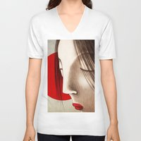 japan V-neck T-shirts featuring Japan by Francesca Cosanti