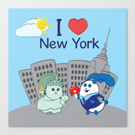 Ernest and Coraline | I love New York Canvas Print