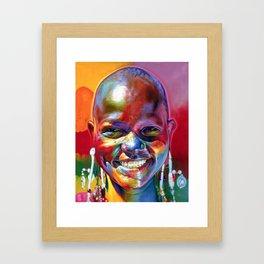 100 Mile Smile Framed Art Print
