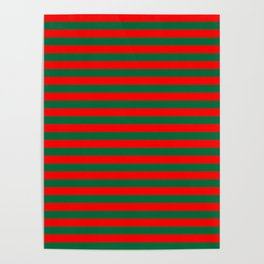 Horizontal Stripes, Christmas and Holiday Fantasy Collection Poster