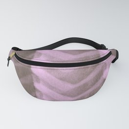 Blush Pink Panels over Chocolate Brown Background Fanny Pack