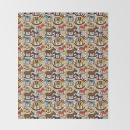 Rocking horses Throw Blanket