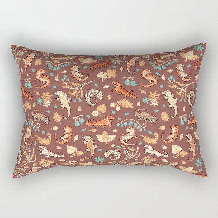 Autumn Geckos in light brown Rectangular Pillow