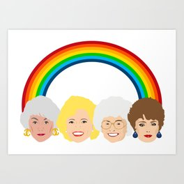 The Golden Girls LGBT Rainbow Pride Art Print