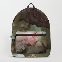 Alcohol Ink with Gold accents Backpack