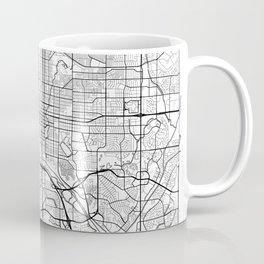 Colorado Springs Map White Coffee Mug