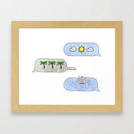 Warm Weather Vibes Framed Art Print