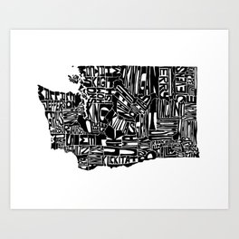 Typographic Washington Art Print