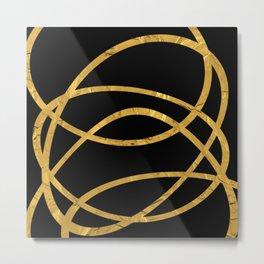 Golden Arcs - Abstract Metal Print